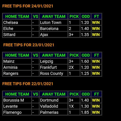 ALL FOOTBALL TIPS: BEST WINNING FREE ODDS 100%