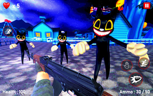 Scary Cartoon Cat Horror Game : Gangster Cat Mod