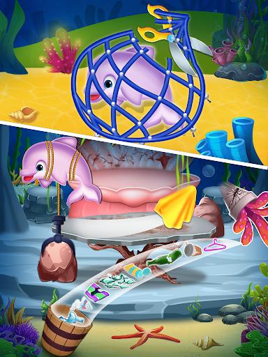 Pregnant mermaid mommy & newborn babysitter game