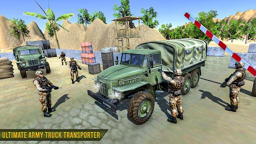 Army Truck Cargo Transport 2021 : Cargo Truck Game