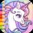 icon Rainbow Unicorns Coloring 1.1