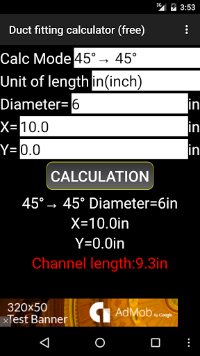Duct fitting calculator (free)