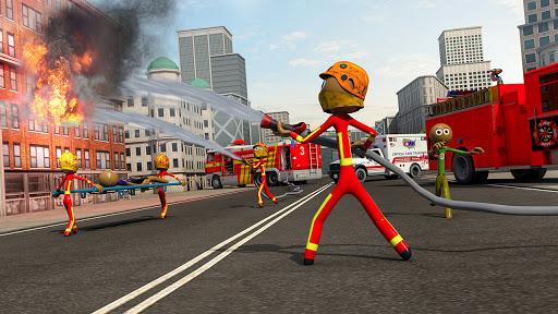 Stickman City Firefighter: 911 Emergency Simulator