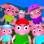 icon Neighbor Piggy. Family Escape