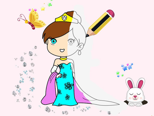 Kids Princess Coloring Book