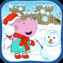 icon Hippo sneeubal geveg