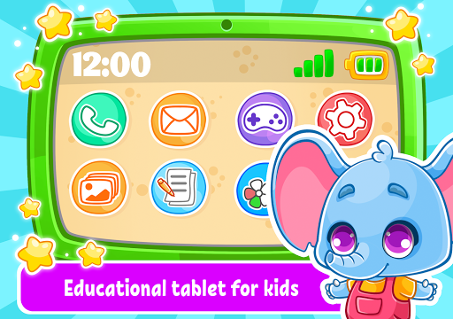 Learning Tablet: Coloring Pictures and Baby Games