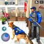 icon US Police Dog Bank Robbery Crime Chase