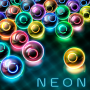 icon MB2: glowing neon bubbles