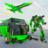 icon Army Bus Robot Transform Wars 3.8