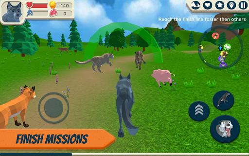 Wolf Simulator: Wild Animals 3D