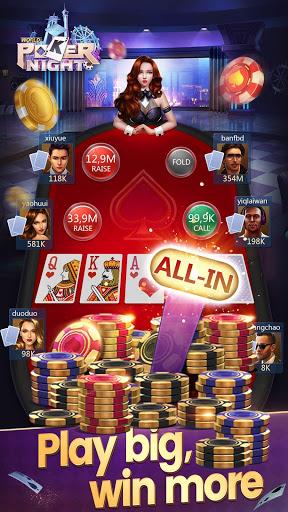 Free Texas Holdem Card Games-World Poker Night