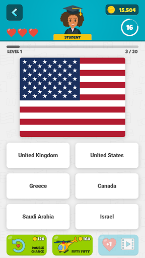 Flags of the World 2: Map - Geography Quiz