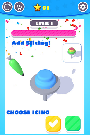 Perfect Colorful Cake Icing 3D