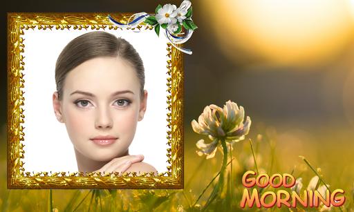 Good morning photo frame