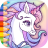icon Rainbow Unicorns Coloring 2.0