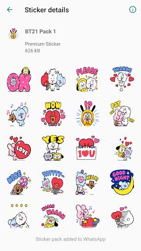 New Sticker BT21 for WAStickerApps