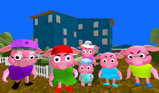 Neighbor Piggy. Obby Family Escape 3D