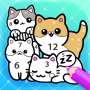 icon Doodle Kawaii Coloring by Numbers