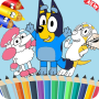 icon Bluey coloring book