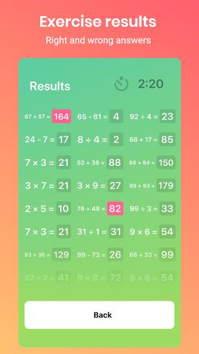 Math Brain - Learning Games Quiz. Arithmetic game.