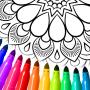 icon Mandala kleur bladsye