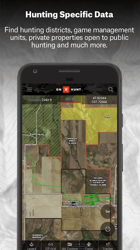 onX HUNT Maps #1 Hunting GPS Offline US Topo Maps (MOD) for Samsung