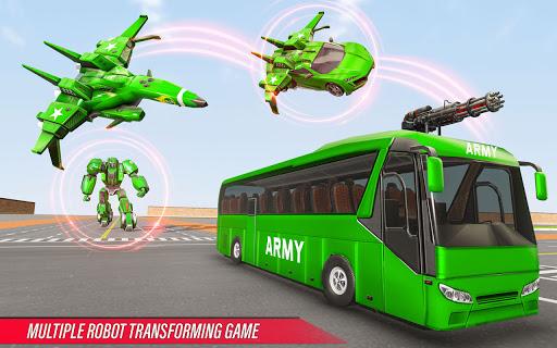 Army Bus Robot Transform Wars – Air jet robot game