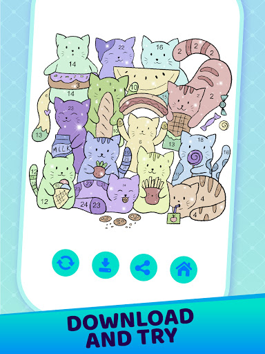 Doodle By Numbers Coloring Book