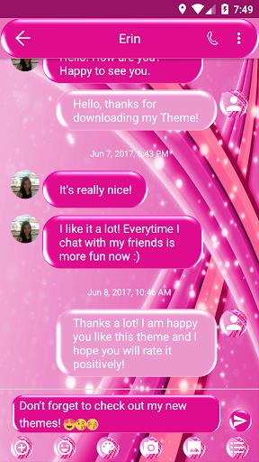 SMS Messages Sparkling Pink