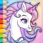 icon Rainbow Unicorns Coloring