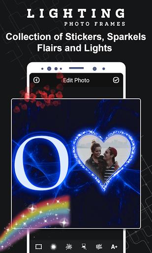 Lighting Photo Frames - Text Frame Photo Editor